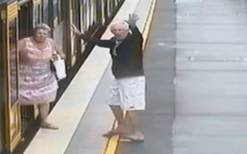 Dramatic escape after boy falls between train and platform
