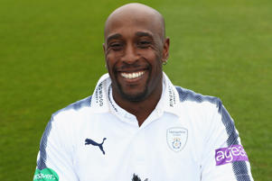 Michael Carberry of Hampshire poses in the Specsavers County Championship kit during the Hampshire County Cricket photocall.