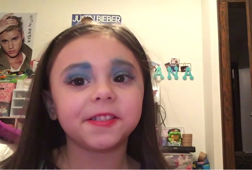 4-year-old's make-up tutorial