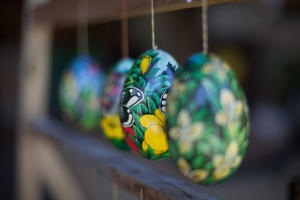 Close-Up Of Easter Eggs.