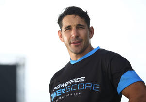 Billy Slater looks on during the Powerade Powerscore Launch Event.