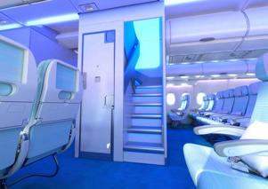 Airbus's New Forward Staircase feature on the A380