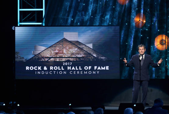 Slide 1 of 41: Founder of Rolling Stone magazine and Rock and Roll Hall of Fame Founder Jann Wenner speaks onstage at the 32nd Annual Rock & Roll Hall Of Fame Induction Ceremony on April 7, 2017 in New York City.