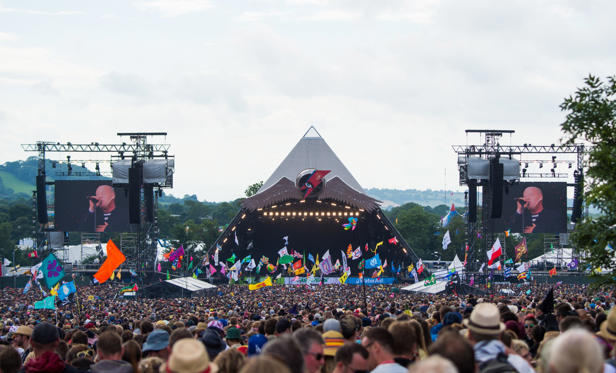Slide 1 of 20: A view of the Pyramid Stage at Glastonbury Festival 2016 at Worthy Farm, Pilton on June 25, 2016 in Glastonbury, England, U.K.