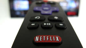 The Netflix logo is pictured on a television remote in this illustration photograph taken in Encinitas, California