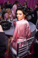 Kendall Jenner appears backstage in hair and makeup