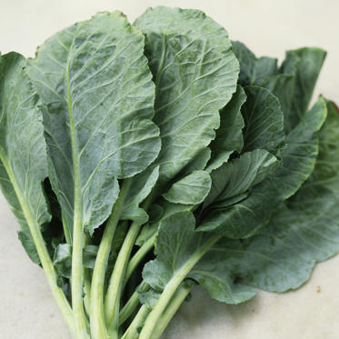 A single serving of the leafy green contains just 46 calories and also provides calcium and your daily-recommended doses of vitamins A and K. Because collard greens are also a great source of fiber (7.6 grams per cup), they can help keep you full for longer.
