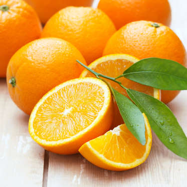 """Like lemons, oranges are low in calories but contain plenty of fiber, helping you to feel full throughout the day and consume less overall. In fact, in a list of the most filling foods compiled by Australian researchers, oranges ranked the highest among fruits.<br><br>From January to April, keep your eyes peeled for blood oranges, a darker-hued winter variety of the citrus that contains a full day's worth of vitamin C as well as high levels of the disease-fighting antioxidant anthocyanin.<br><br><b>RELAtED: <a href=""""http://www.health.com/health/gallery/0,,20820849,00.html"""">26 Quick, Healthy Juice and Smoothie Recipes</a></b>"""