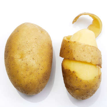 """Because they're so carb-heavy, potatoes aren't often considered a health food--but you shouldn't pass on spuds. Potatoes are a great source of resistant starch, so eating them in moderation can help your body burn fat. They'll also keep you full: on the European Journal of Clinical Nutrition's satiety index, potatoes ranked number one.<br><br><b>RELATED: <a href=""""http://www.health.com/health/gallery/0,,20645136,00.html"""">26 Reasons to Love Potatoes</a></b>"""