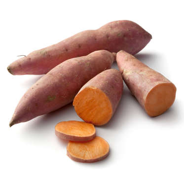 """Like potatoes, sweet potatoes are a great source of slimming resistant starch, which triggers feelings of satiety. But they also boast nutritional benefits all of their own: just one baked sweet potato contains 438% of your daily vitamin A (versus 1% in a white potato), 37% of your daily vitamin C, as well as calcium, potassium, and iron.<br><br>They're also low-calorie (about 105 in a medium sweet potato) and contain 4 grams of filling dietary fiber, 16% of the daily recommended amount.<br><br><b>RELATED: <a href=""""http://www.health.com/health/gallery/0,,20600272,00.html"""">25 Healthy Sweet Potato Recipes</a></b>"""