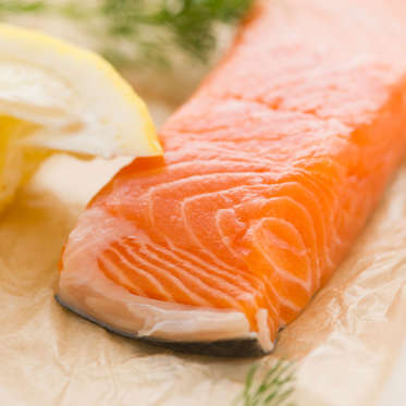 Salmon is filled with monounsaturated and polyunsaturated fatty acids, which could help speed up weight loss: a 2001 study found that participants who ate more MUFAs lost an average of 9 pounds, while those who ate a primarily low-fat diet gained an average of 6 pounds.<br><br>Selecting protein sources that are rich in PUFAs (like salmon) instead of those that contain lots of saturated fat (such as red meat) could also help reduce visceral fat in your belly, according to a Swedish study.