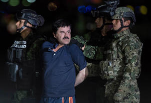 Joaquin Guzman Loera, also known as 'El Chapo' is transported to Maximum Security Prison of El Altiplano in Mexico City, Mexico on January 08, 2016
