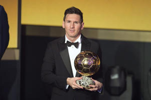 FIFA Ballon d'Or, Zurich, Switzerland - 11 Jan 2016 Lionel Messi receives the FIFA Ballon d'Or 2015