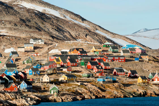 Human Settlement, Loneliness, Village, Horizontal, Outdoors, North America, Greenland, Colors, Multi Colored, Sled Dog, Winter, Tundra, Frost, Polar Climate, Solitude, Inuit, Arctic, Antarctica, Abandoned, Remote, Photography, dwellers, Solitude