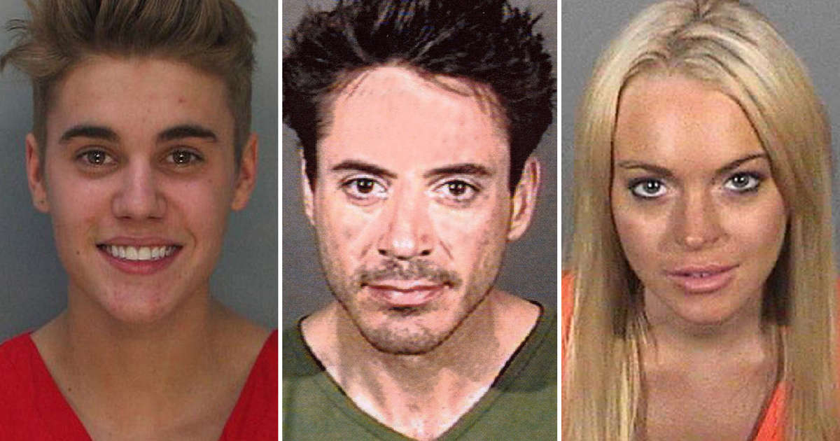 Busted! Mugshots of famous people
