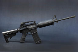 In this photo illustration a Rock River Arms AR-15 rifle is seen on December 18, 2012 in Miami, Florida.