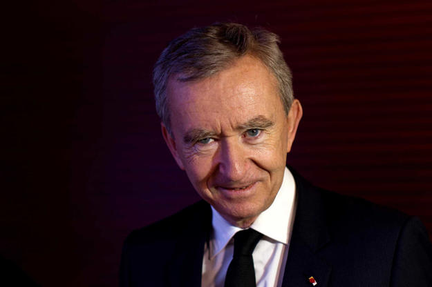Slide 10 of 20: Value: US $33.2b Source of wealth: LVMH About: One of Europe's wealthiest, Bernard Arnault Chairman and CEO, LVMH (Moet Hennessy Louis Vuitton) oversees an empire that includes 60 brands. Bulgari, Hermes, Fendi and Dom Perignon are some of the brands that fall under his purview.