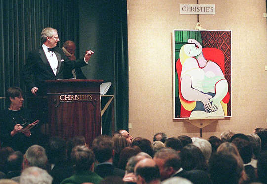 The painting was one of 58 pieces of 20th century art offered for sale from the collection of Victor and Sally Ganz