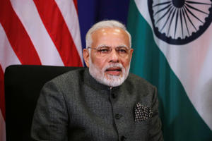India's Prime Minister Narendra Modi delivers remarks to reporters before his bilateral meeting with U.S. President Donald Trump alongside the ASEAN Summit in Manila, Philippines November 13, 2017.