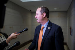 House Intelligence Committee Ranking Member Adam Schiff (D-CA) speaks to reporters on Capitol Hill  June 27, 2018 in Washington, DC.