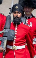 First Sikh guardsman