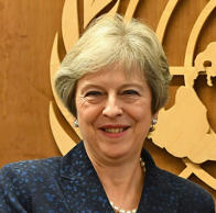 British Prime Minister Theresa May arrives at the United Nations in New York on September 25, 2018.