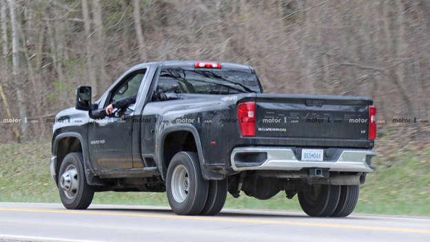 2020 Chevy Silverado Hd Single Cab Dually Spied Fully Undisguised