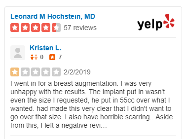 Plastic surgeon sues two former patients for unflattering online reviews