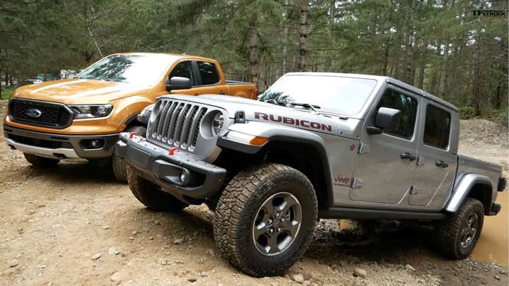 Watch The Jeep Gladiator And Ford Ranger Duel Off Road