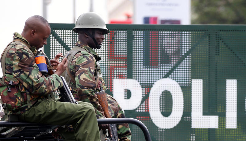 A file photo showing Kenya policemen in Nairobi.