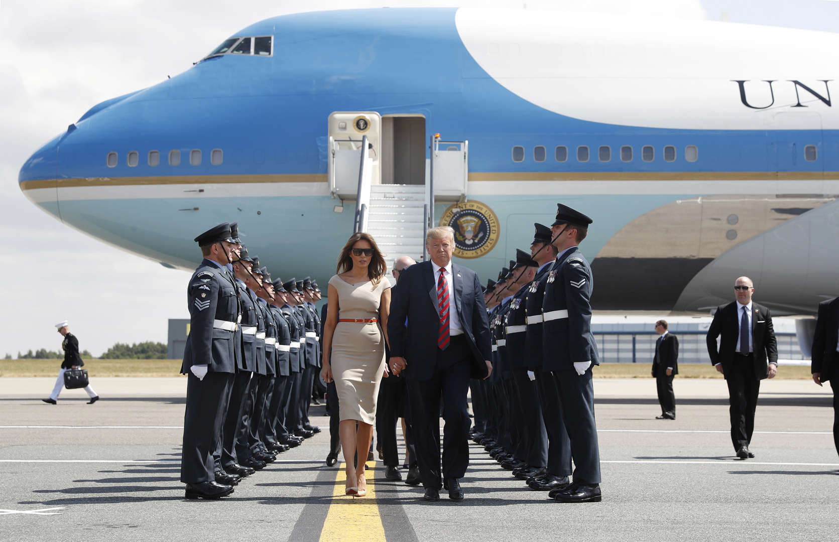 Image result for picture of trump and air force one