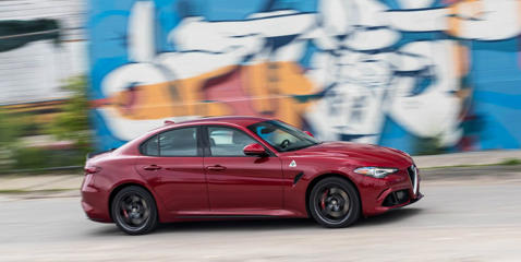 Acceleration, handling, ride comfort, and braking: We put the Giulia Quadrifoglio and its rivals through their paces on the road and our test track.