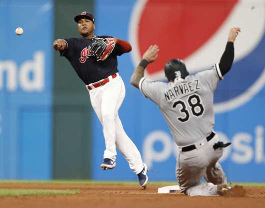 b5f7bd665 Slide 78 of 78  Jose Ramirez  11 of the Cleveland Indians throws out Matt
