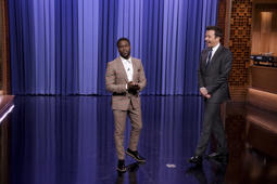 THE TONIGHT SHOW STARRING JIMMY FALLON -- Episode 0927 -- Pictured: (l-r) Co-Host Comedian Kevin Hart,  Host Jimmy Fallon during the opening monologue on September 19, 2018 -- (Photo by: Andrew Lipovsky/NBC/NBCU Photo Bank via Getty Images)