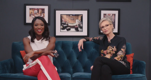 Jane Lynch still blushes watching her 'The L Word' love scene