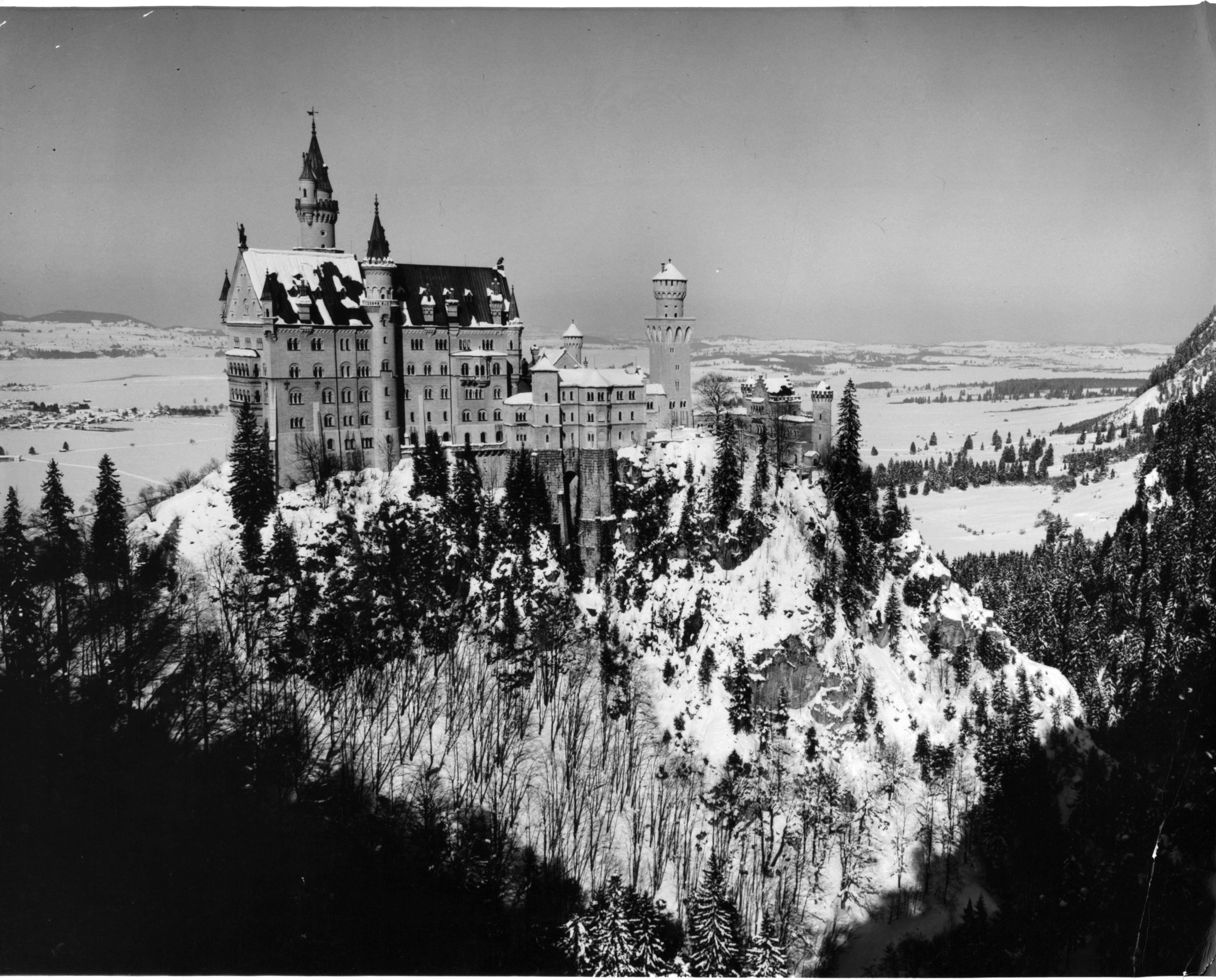 Slide 47 of 55: Neuschwanstein Castle in Germany, 1955. (Photo by Harold M. Lambert/Getty Images)