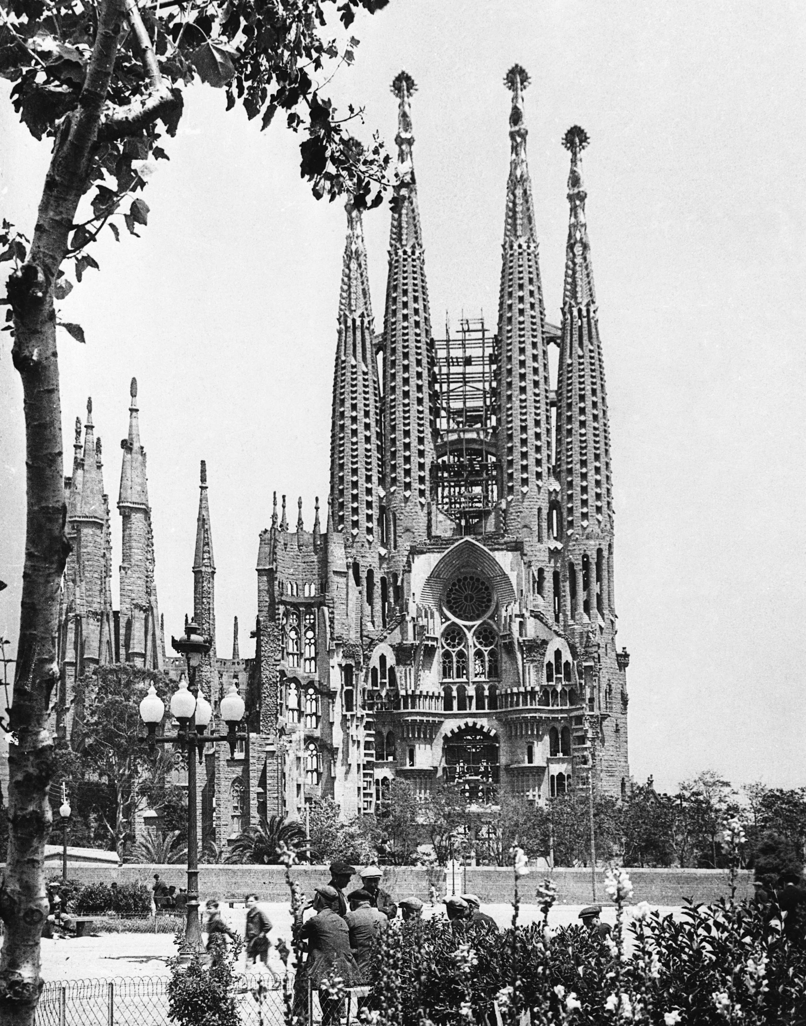 Slide 18 of 55: The Cathedral Of The Sagrada Familia In Barcelona, 1939 (Photo by © Hulton-Deutsch Collection/CORBIS/Corbis via Getty Images)