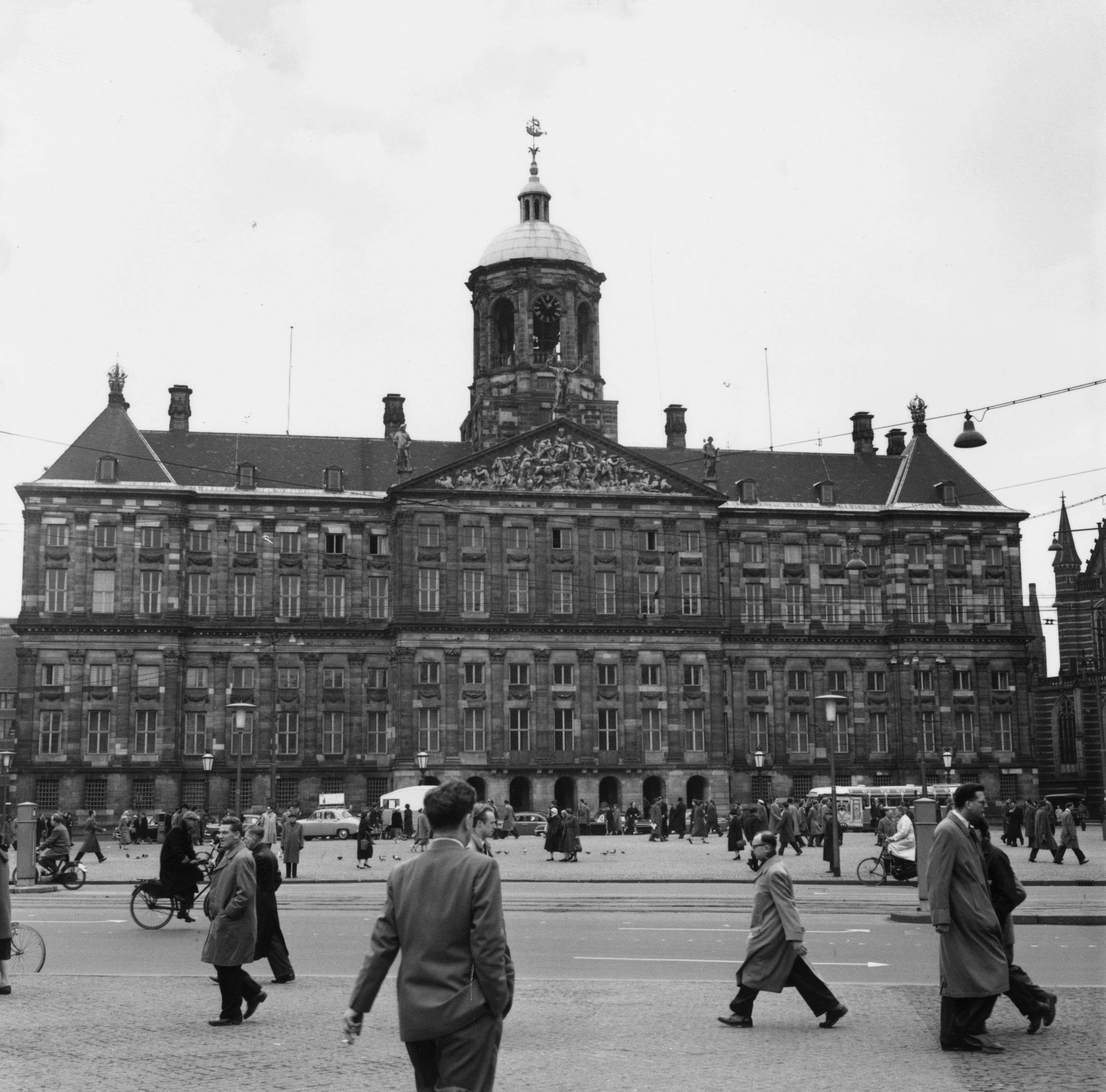 Slide 24 of 55: 4th April 1958: The Royal Palace in Dam Square, Amsterdam. (Photo by George W. Hales/Fox Photos/Getty Images)