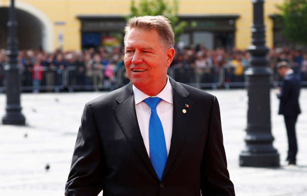 00a42ee1b978 Romanian President Klaus Iohannis arrives for the informal meeting of  European Union leaders in Sibiu,