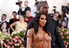 Metropolitan Museum of Art Costume Institute Gala - Met Gala - Camp: Notes on Fashion- Arrivals - New York City, U.S. – May 6, 2019 - Kim Kardashian and Kanye West. REUTERS/Andrew Kelly