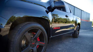 a car parked on the side of a road: 2019 GMC Syclone: First Drive