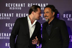 ROME, ITALY - JANUARY 15:  Leonardo DiCaprio and Alejandro Gonzalez Inarritu attend 'The Revenant' Red Carpet on January 15, 2016 in Rome, Italy.  (Photo by Franco Origlia/Getty Images,)