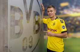 DORTMUND, GERMANY - MAY 22: (EXCLUSIVE COVERAGE) Thorgan Hazard signs a new contract with Borussia Dortmund at Dortmund on May 22, 2019 in Dortmund, Germany. (Photo by Alexandre Simoes/Borussia Dortmund/Getty Images)