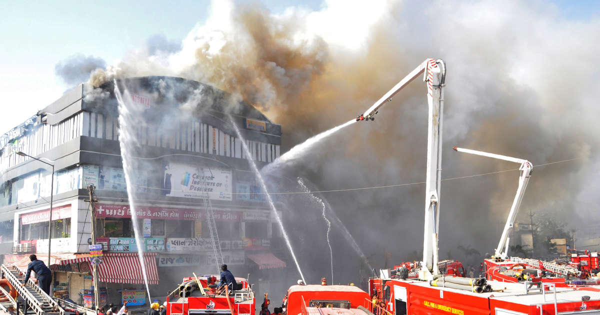 Surat building fire: 'We jumped off 4th floor to escape