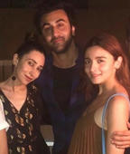 Alia parties with Ranbir's family