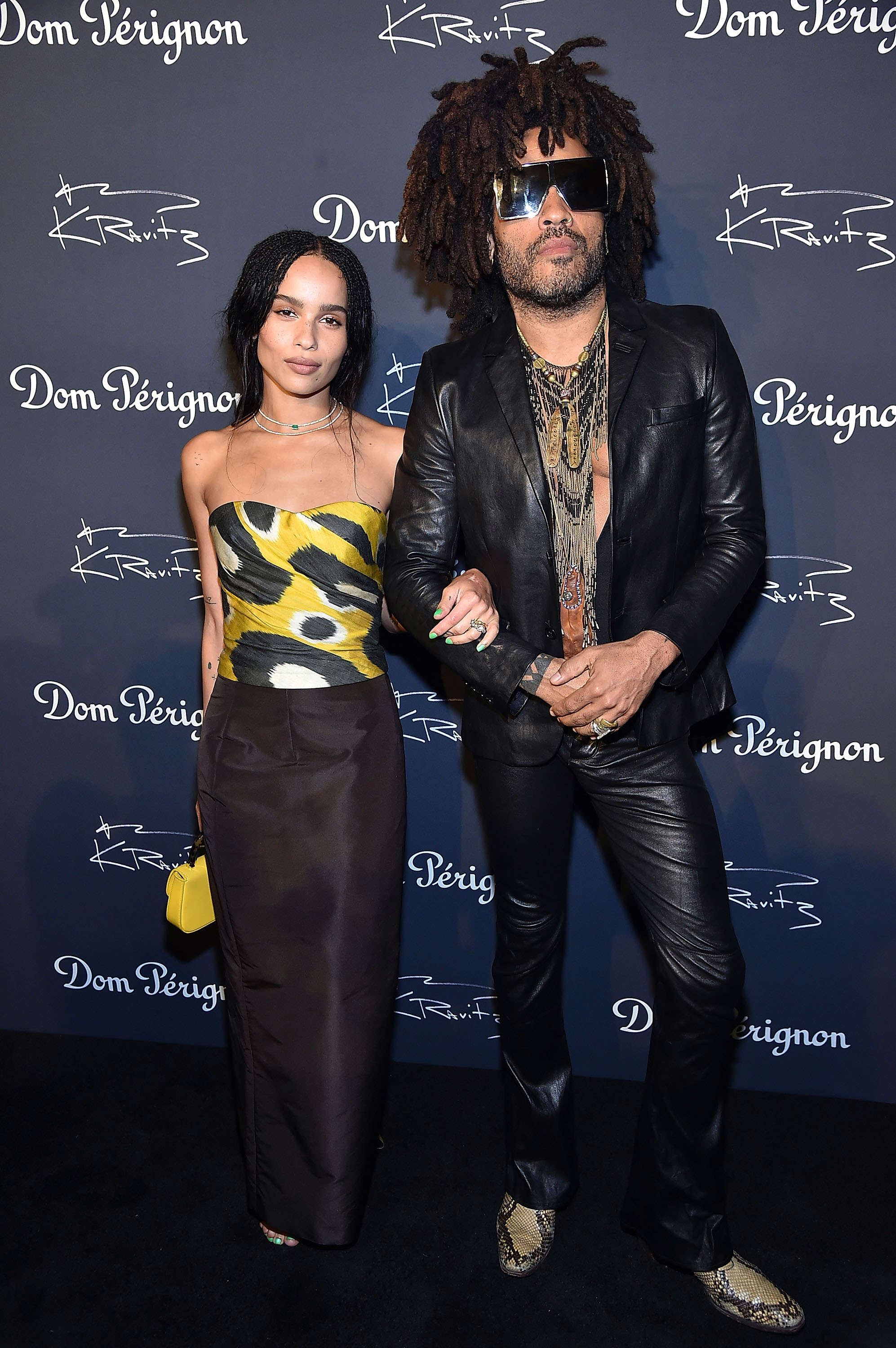 Slide 7 of 18: NEW YORK, NY - SEPTEMBER 28:  Zoe Kravitz and Lenny Kravitz attend the Dom Perignon & Lenny Kravitz: 'Assemblage' Exhibition at Skylight Modern on September 28, 2018 in New York City.  (Photo by Theo Wargo/Getty Images)