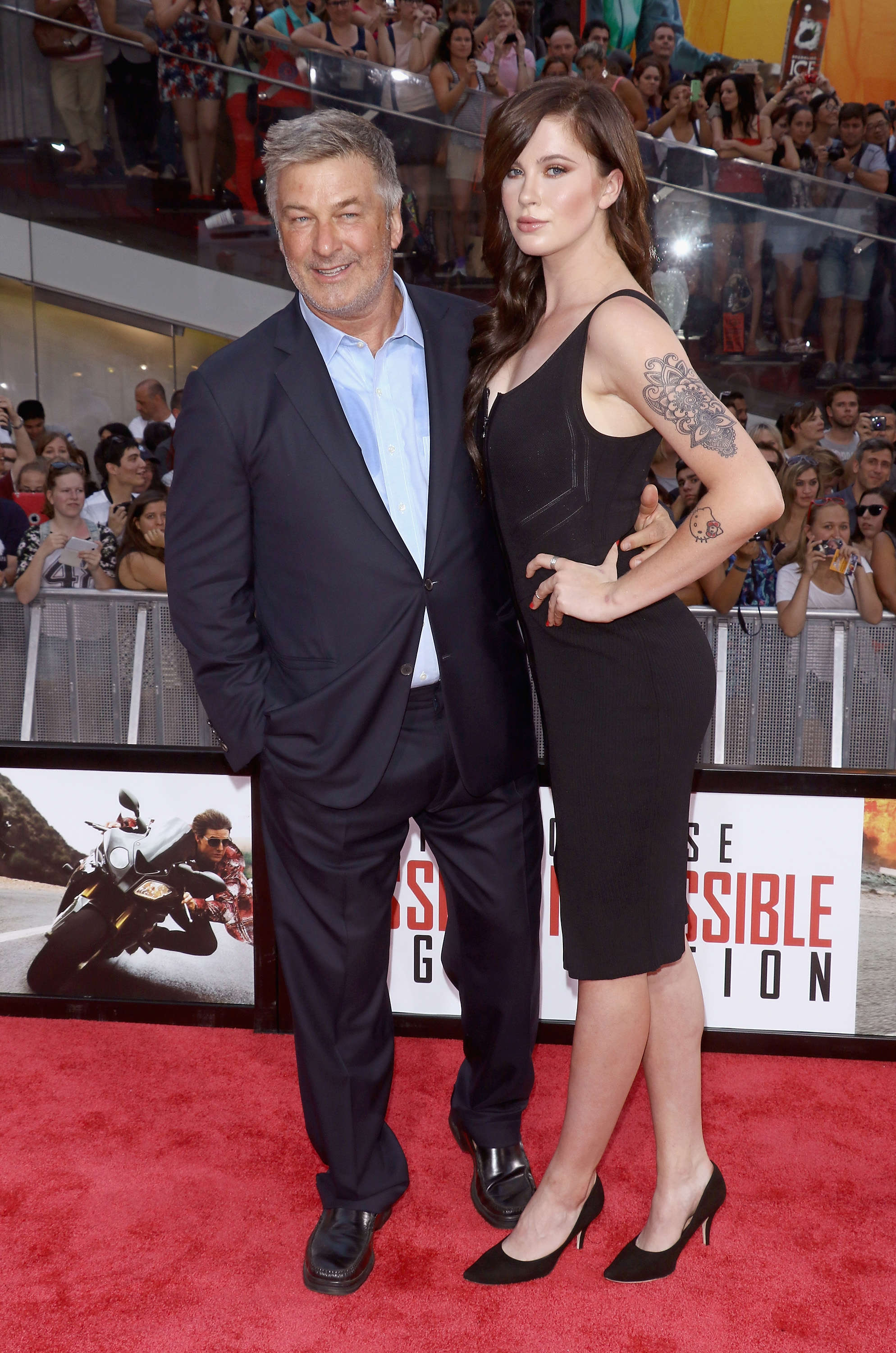 "Slide 6 of 18: NEW YORK, NY - JULY 27:  Actor Alec Baldwin and daughter Ireland Baldwin attend the ""Mission Impossible: Rogue Nation"" New York premiere at Times Square on July 27, 2015 in New York City.  (Photo by Jim Spellman/WireImage)"