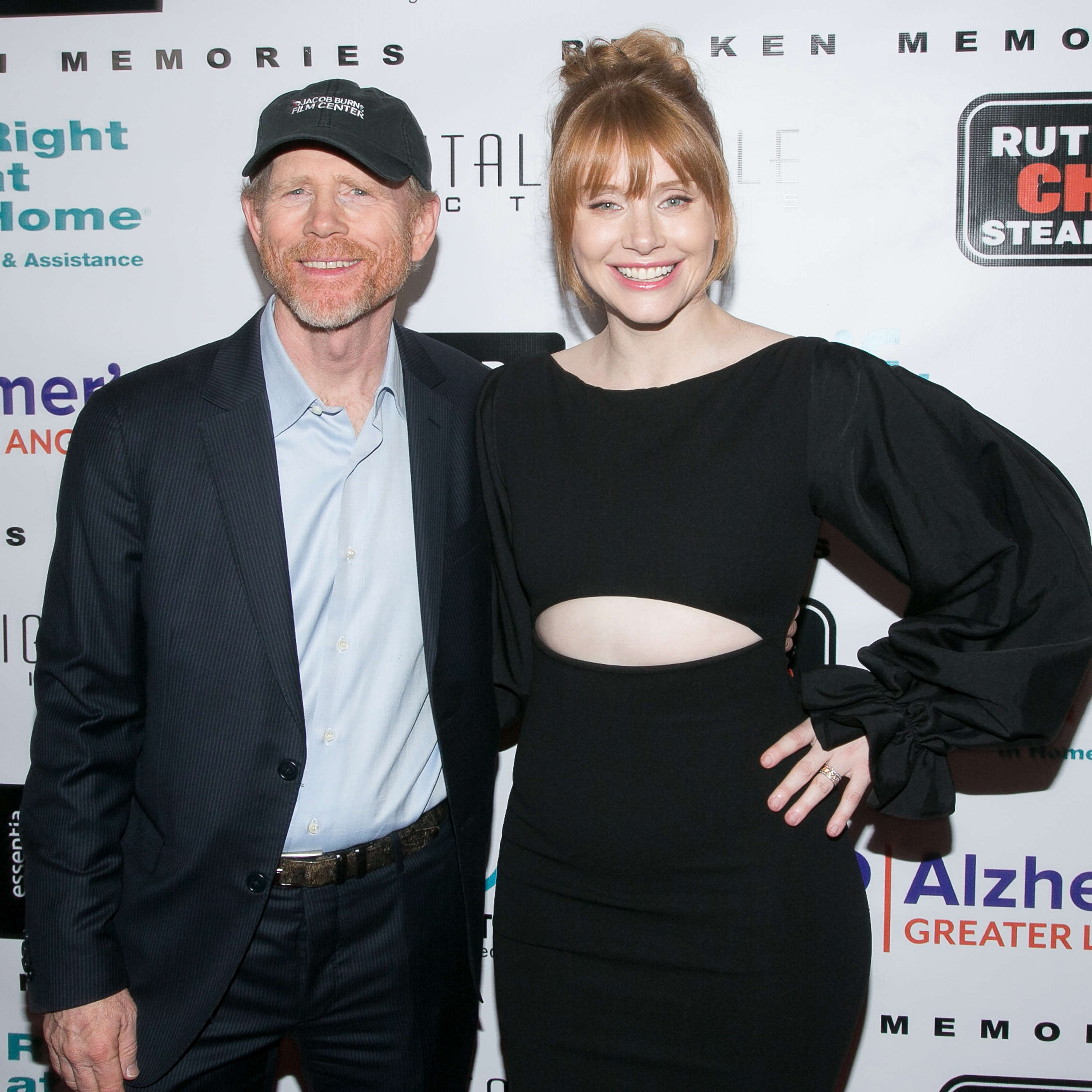 "Slide 14 of 18: BEVERLY HILLS, CA - NOVEMBER 14:  Ron Howard (L) and Bryce Dallas Howard arrive for the benefit screening of Digital Jungle Pictures' ""Broken Memories"" at Writers Guild Theater on November 14, 2017 in Beverly Hills, California.  (Photo by Gabriel Olsen/FilmMagic)"