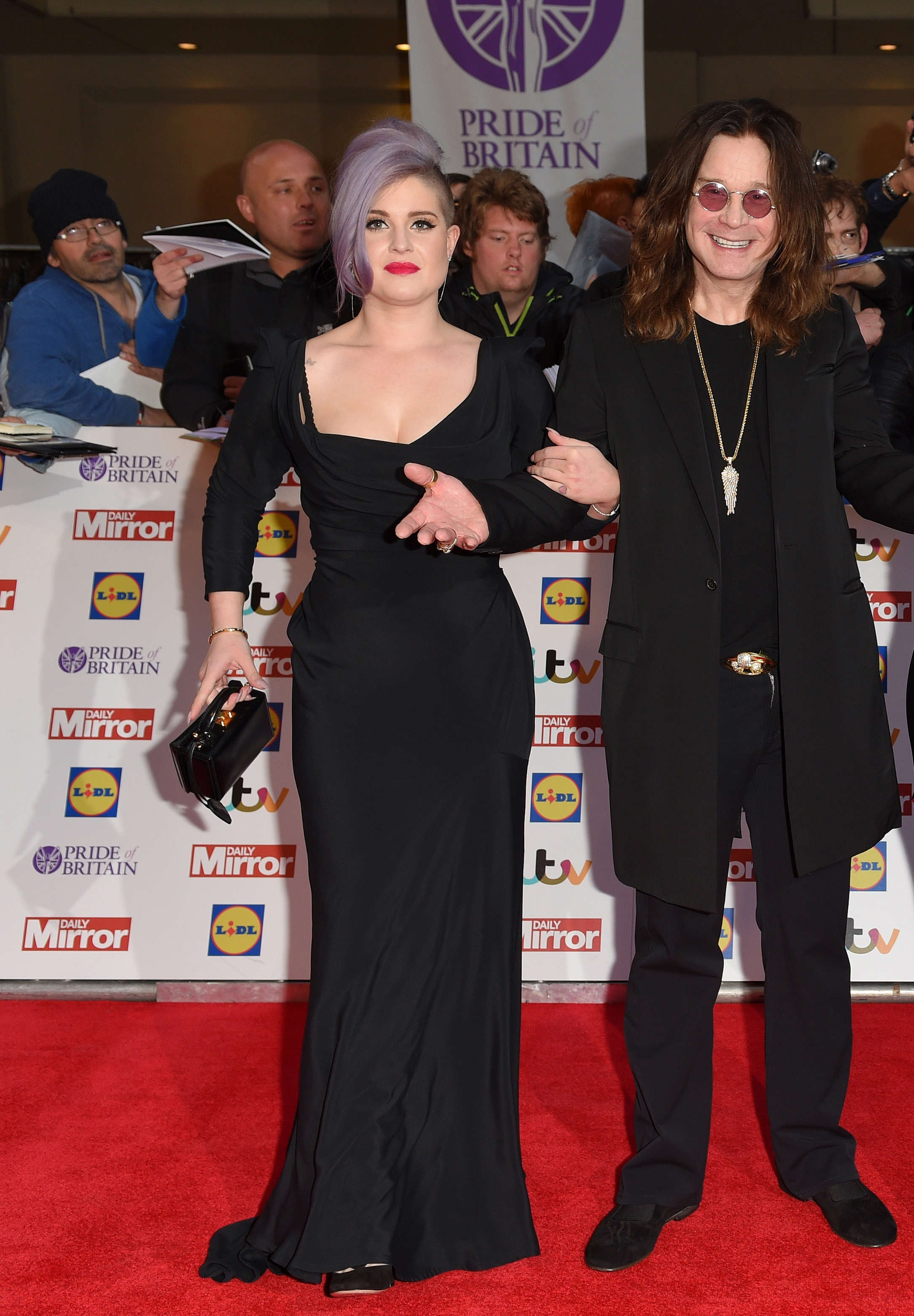 Slide 18 of 18: LONDON, ENGLAND - SEPTEMBER 28:  Kelly Osbourne, Ozzy Osbourne, Sharon Osbourne and Jack Osbourne attend the Pride of Britain awards at The Grosvenor House Hotel on September 28, 2015 in London, England.  (Photo by Karwai Tang/WireImage)