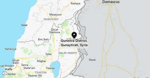 Israeli missile hits Quneitra, Syria reports casualties